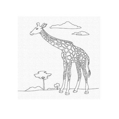 Набор картина по номерам 25 х 30 Жираф 15522-АС **