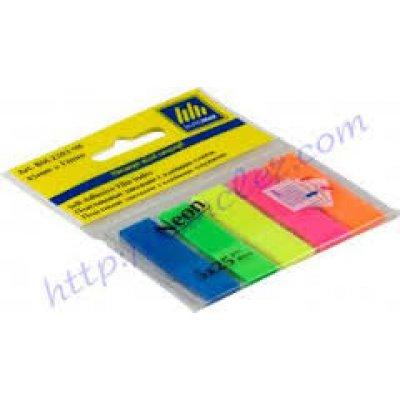 """Блок бумаги  липкий 45х12/25лх5цв """"BuroMAX"""" 2302-98 пласт.неон"""